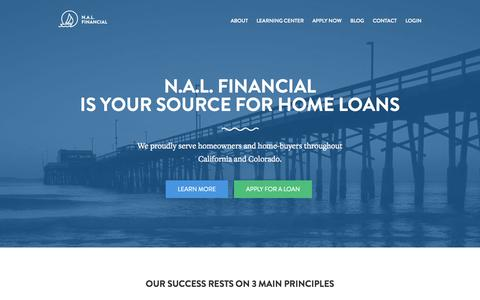 Screenshot of Home Page nalfinancial.com - N.A.L. Financial - captured Oct. 6, 2014
