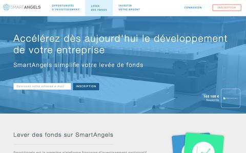 Screenshot of smartangels.fr - Comment lever des fonds en crowdfunding - SmartAngels - captured March 21, 2017