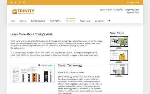 Screenshot of Case Studies Page trinity-ai.com - Case Studies - Trinity - captured Dec. 17, 2016