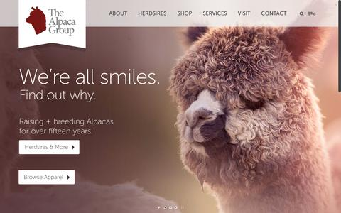 Screenshot of Home Page thealpacagroupnw.com - Alpaca Herdsires and Alpaca Products | The Alpaca Group - captured Jan. 23, 2015