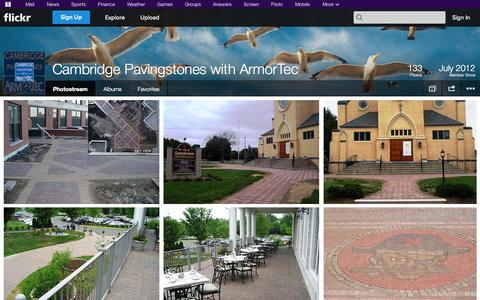 Screenshot of Flickr Page flickr.com - Flickr: Cambridge Pavingstones with ArmorTec's Photostream - captured Oct. 22, 2014