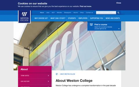 Screenshot of About Page weston.ac.uk - About Weston College | Weston College - captured Oct. 5, 2014