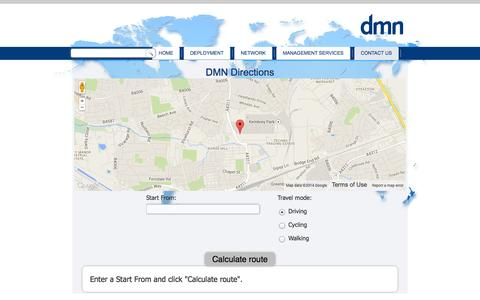 Screenshot of Maps & Directions Page dmn.co.uk - Directions - captured Sept. 30, 2014