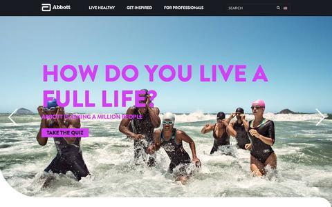 Screenshot of Home Page abbott.com - Abbott | Global Healthcare & Research - captured Oct. 23, 2015