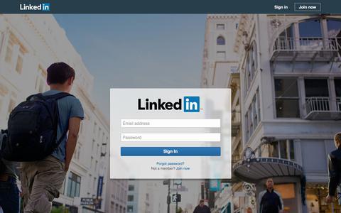 Screenshot of Login Page linkedin.com - Sign In to LinkedIn - captured June 19, 2017