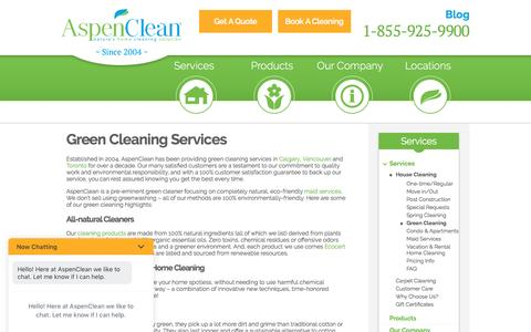 Green Cleaning Services in Toronto, Vancouver & Calgary - Aspen Clean