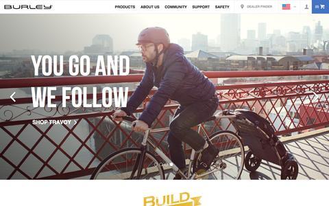 Screenshot of Home Page burley.com - Bike Trailers - Jogging Strollers   Burley - captured Oct. 1, 2015