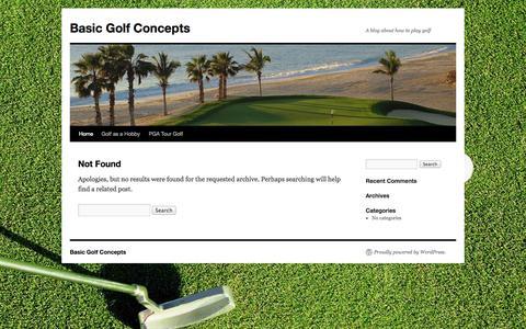 Screenshot of Home Page basicgolfco.com - Basic Golf Concepts - captured Oct. 5, 2014