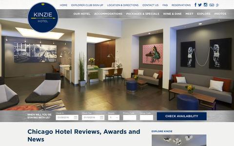 Screenshot of Press Page kinziehotel.com - Chicago Hotel Reviews | Best Chicago Hotels | Kinzie Hotel - captured Jan. 9, 2016