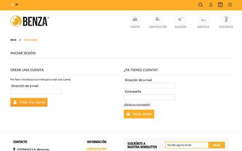 Screenshot of Login Page benza.es - Autenticación - BENZA.ES - captured Sept. 22, 2018