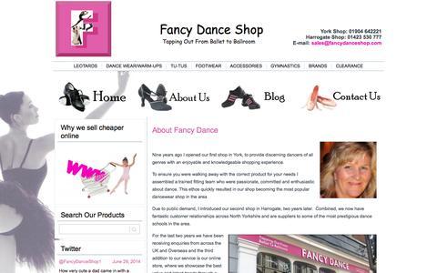Screenshot of About Page fancydanceshop.com - Fancy Dance shop in York  and Harrogate for dancewear | Fancy Dance Shop - captured Oct. 6, 2014
