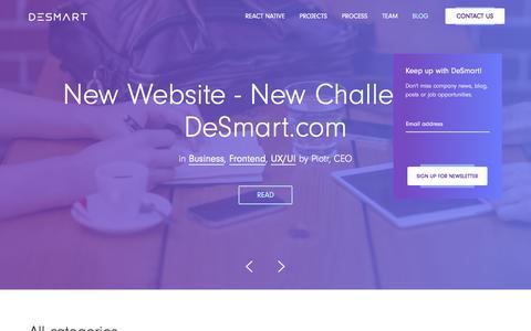 Screenshot of Blog desmart.com - Blog - DeSmart Agile Software House - captured June 4, 2017