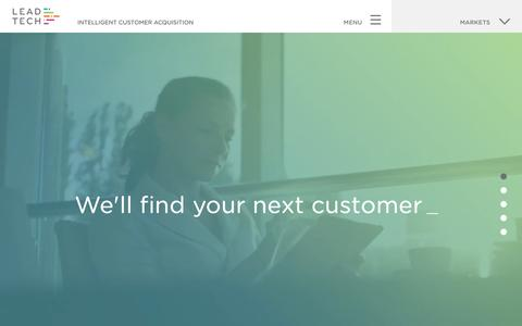 Screenshot of Home Page lead-tech.co.uk - Intelligent Customer Acquisition | Lead Tech - captured May 4, 2017