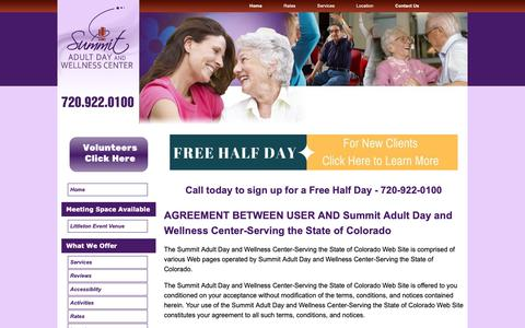 Screenshot of Terms Page summitadultday.com - Terms of Use - captured May 29, 2019