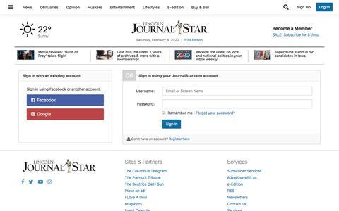 Screenshot of Support Page journalstar.com - Users | journalstar.com - captured Feb. 8, 2020
