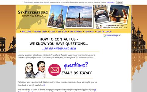 Screenshot of Contact Page st-petersburg-essentialguide.com - Contact Us Via The St Petersburg Essential Guide Form - captured Nov. 7, 2018