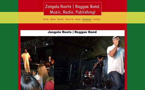 Screenshot of Maps & Directions Page kroffirecords.com - Directions - Jangala Roots | Reggae Band - captured Oct. 6, 2014