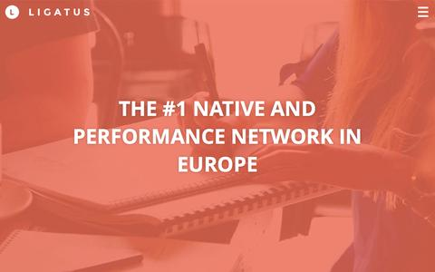 Screenshot of Home Page ligatus.com - Ligatus – THE #1 NATIVE AND PERFORMANCE NETWORK IN EUROPE - captured Aug. 19, 2016