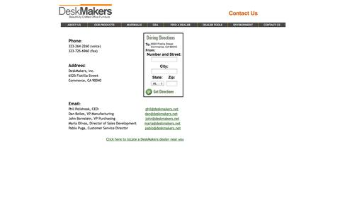 Screenshot of Contact Page homestead.com - Contact Us - captured Sept. 19, 2014