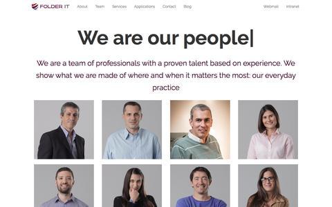 Screenshot of Team Page folderit.net - Team   Folder IT - captured Aug. 19, 2018