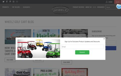 Screenshot of Blog wheelzllc.com - WHEELZ Golf Cart Blog - WHEELZ Custom Carts & Accessories - captured Oct. 20, 2018