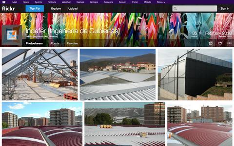 Screenshot of Flickr Page flickr.com - Flickr: Indafer [Ingeniería de Cubiertas]'s Photostream - captured Oct. 23, 2014