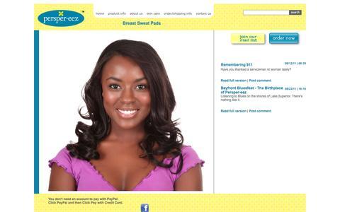 Screenshot of Blog persper-eez.com - My test site - captured Oct. 2, 2014