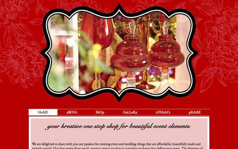 Screenshot of Home Page kreativetreasures.com - Kreative Treasures - event supplies in the GTA - captured Sept. 30, 2014