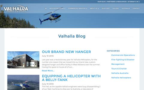 Screenshot of Blog valhallahelicopters.com - Our Blog | Valhalla Helicopters - captured Nov. 28, 2016