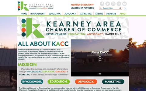Screenshot of About Page kearneycoc.org - Kearney Area Chamber of Commerce | About | Kearney NE - captured Oct. 15, 2018