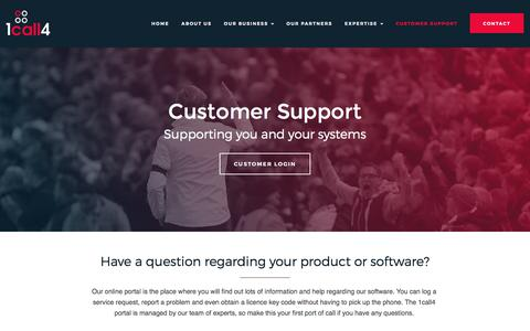 Screenshot of Support Page 1call4.com - Customer Support - 1Call4 Make Life Easy - captured Oct. 26, 2017