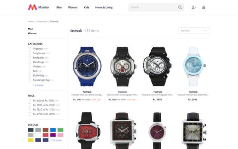 Screenshot of myntra.com - Fastrack - Exclusive Fastrack Online Store in India at Myntra - captured March 17, 2017