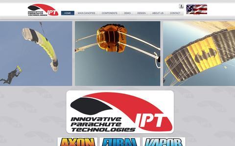 Screenshot of Home Page innovativeparachute.com - Innovative Parachute Technologies - captured Nov. 26, 2016