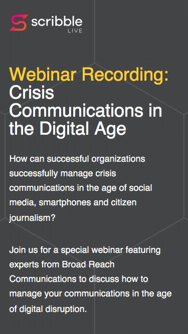 Webinar: Crisis Communication in the Digital Age