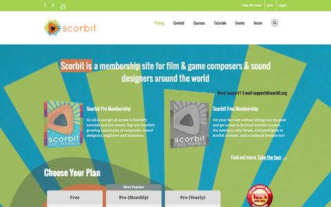 Screenshot of Pricing Page scorbit.org - Scorbit   –  Pricing - captured Oct. 4, 2014