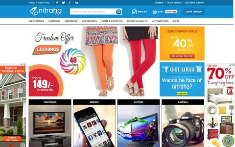 Screenshot of Home Page nitraha.com - Nitraha.com | Best online Shopping website in India - captured Oct. 6, 2014