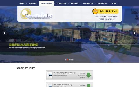 Screenshot of Case Studies Page visual-data.com - Visual Data - captured Oct. 10, 2014