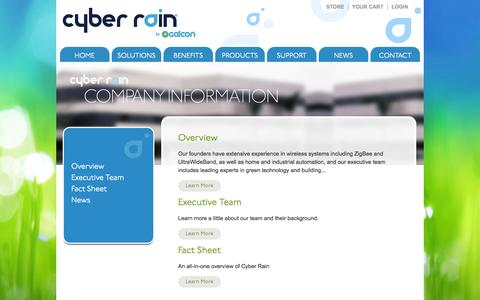 Screenshot of About Page cyber-rain.com - Cyber Rain Remote Irrigation Controller, Experts in Green Technology, Smart Irrigation Solutions - captured Sept. 12, 2014