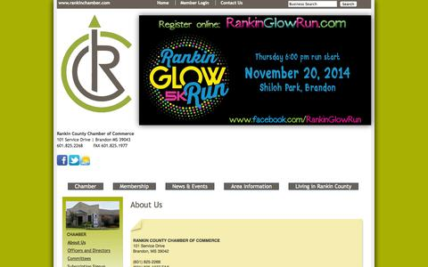 Screenshot of About Page rankinchamber.com - About Us - Rankin County Chamber of Commerce - captured Oct. 27, 2014