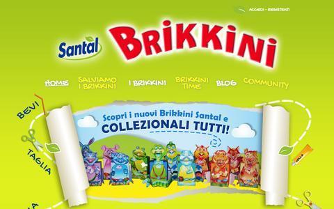 Screenshot of Home Page ibrikkinisantal.it - Santal Brikkini - Scopri i nuovi Brikkini - captured Sept. 24, 2014
