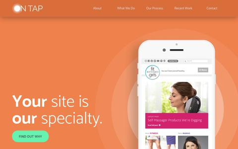 Screenshot of Home Page beontap.co - Responsive Web Design and Development | On Tap - captured Dec. 20, 2018