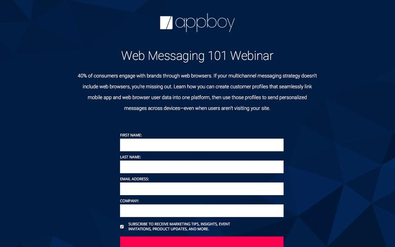 Web Messaging 101 Webinar | Appboy