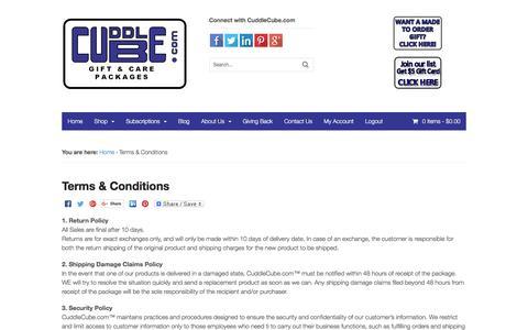 Screenshot of Terms Page cuddlecube.com - Terms & Conditions | CuddleCube.com - captured Nov. 14, 2016