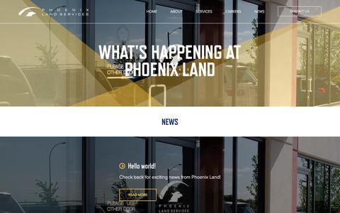 Screenshot of Press Page phoenixland.ca - News | Phoenix Land Services | Full Service Land Broker - captured Jan. 28, 2016