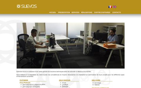 Screenshot of Services Page suevosgroup.com - Suevos - Services - captured Oct. 2, 2017