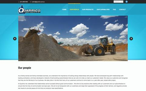 Screenshot of Team Page quarrico.com.au - Searching for Quarry work in Queensland? We want to hear from you! - captured Feb. 1, 2016