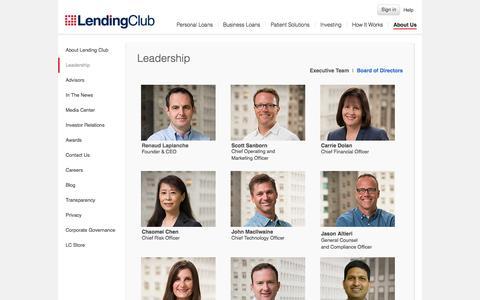 Screenshot of Team Page lendingclub.com - Renaud Laplanche - Chief Executive Officer - captured Nov. 11, 2015