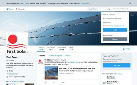 First Solar (@FirstSolar) | Twitter