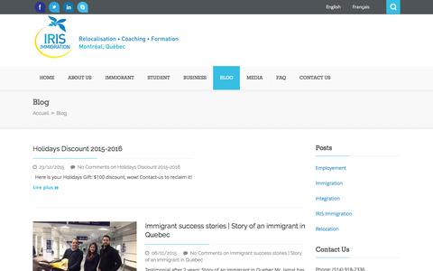 Screenshot of Blog irisimmigration.com - Blog - captured July 22, 2016