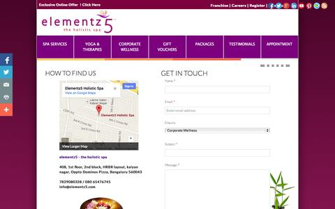Screenshot of Privacy Page elementz5.in - Contact Us - captured Oct. 3, 2014
